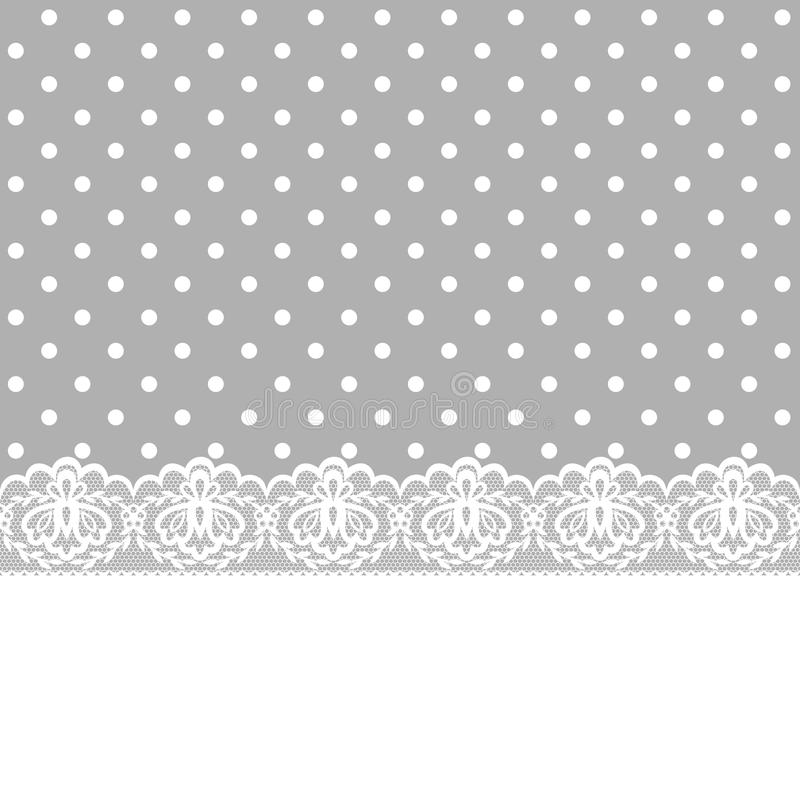 Card with lace border stock vector illustration of lace for Border lace glam