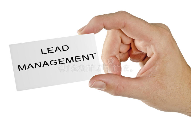 Card for lead management. Business card for lead management royalty free stock photography