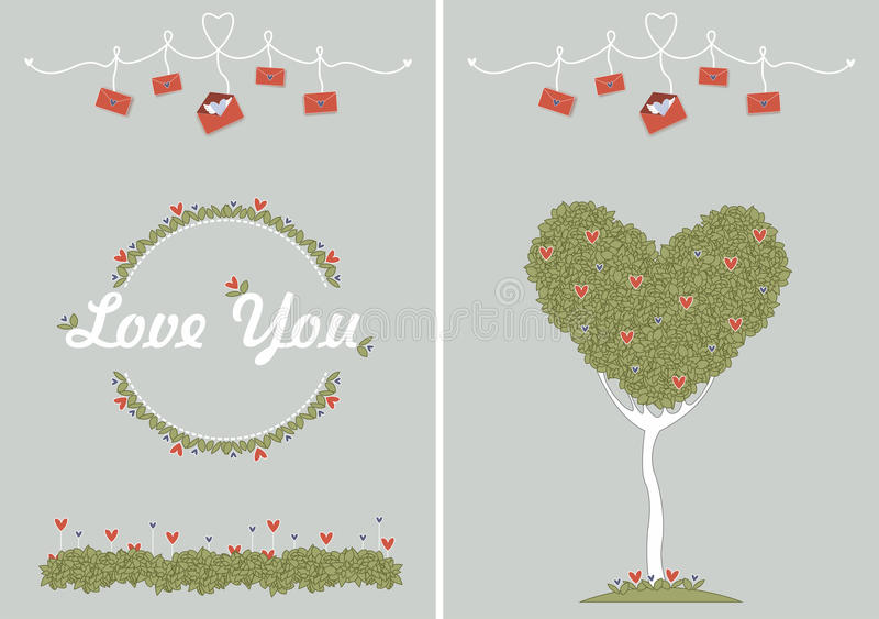 Card: Love you stock images