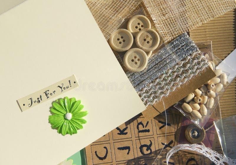 Card Making Crafting Royalty Free Stock Photo