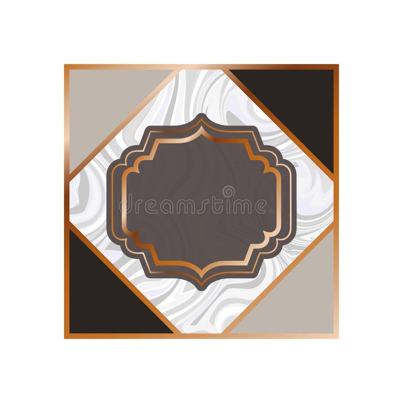 Card with marble texture icon vector illustration