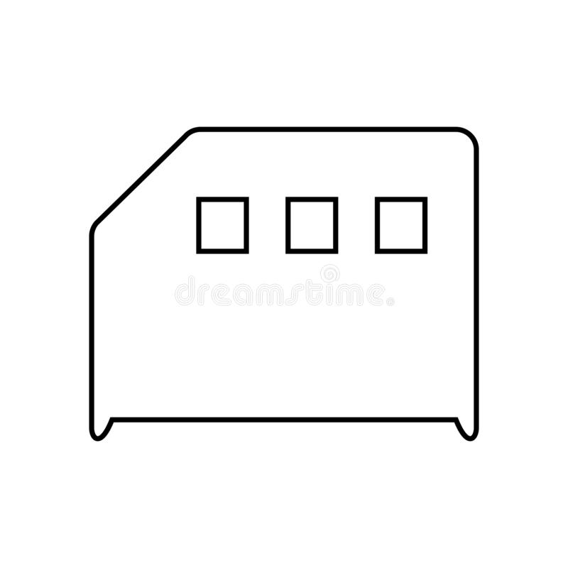 Memory card icon. Sd Card symbol. File backup sign stock illustration