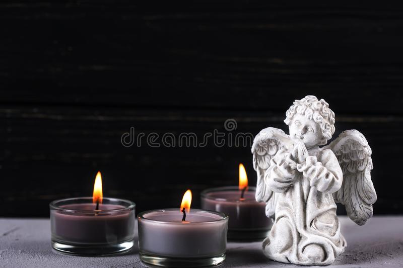 Card for mourning, death, sorrow royalty free stock image