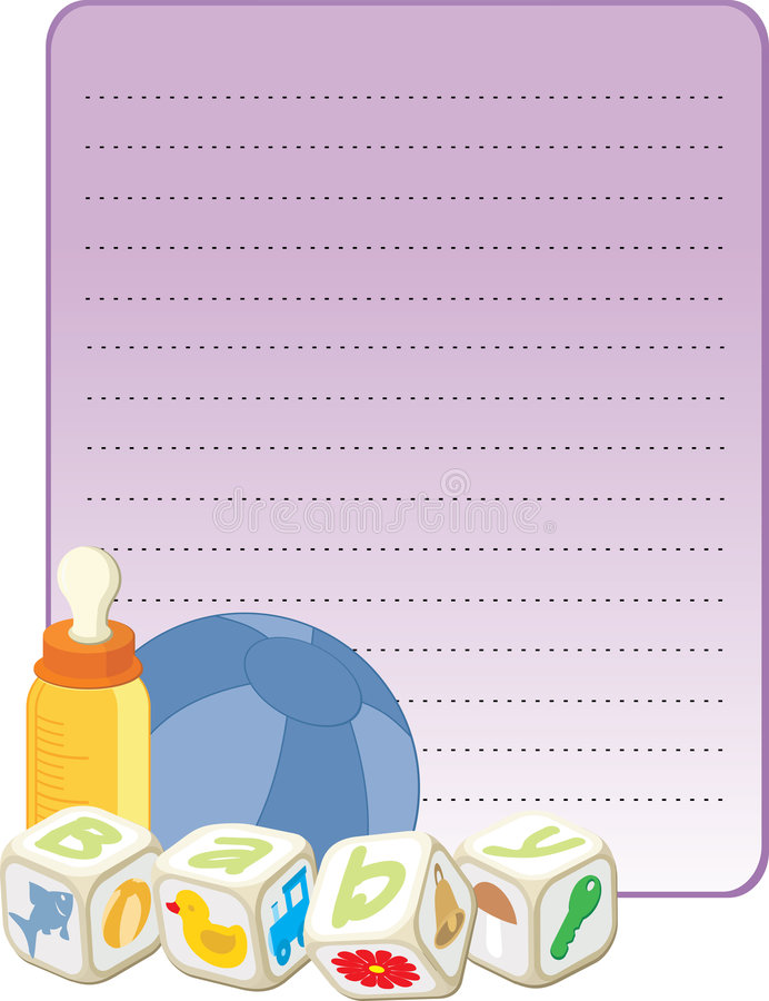 Download Card for a new born boy stock illustration. Image of children - 5968751