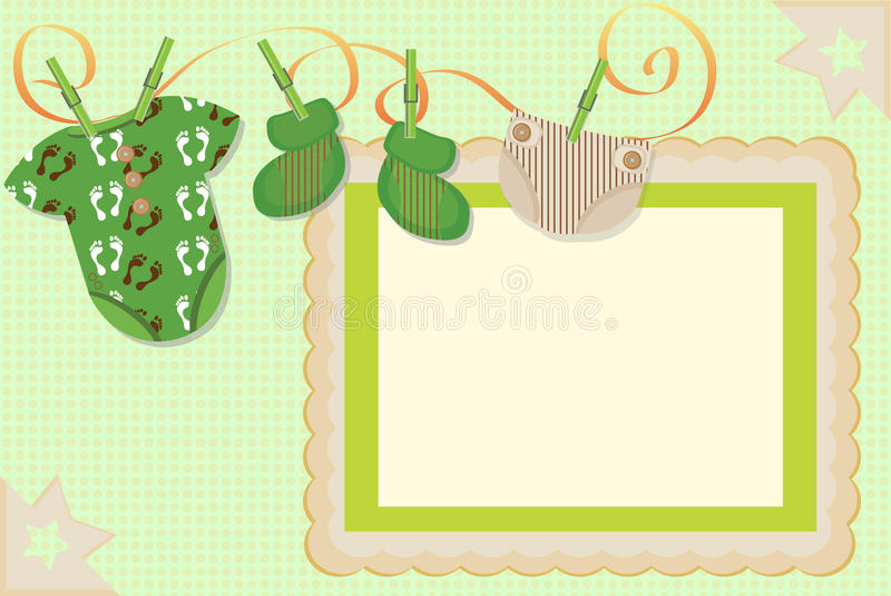 Download Card for the newborn stock illustration. Image of announcement - 26493402