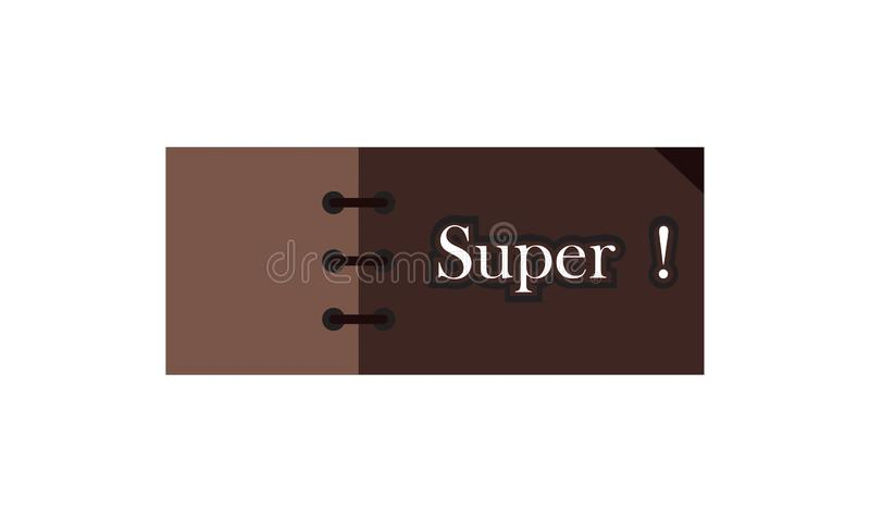 Card note sticker label tag banner vector image with word, Illustration design graphic modern style . Super stock illustration