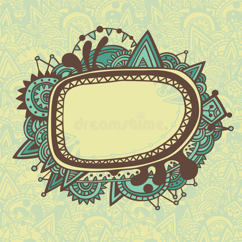Download Card With Ornate Frame Royalty Free Stock Photo - Image: 24838345