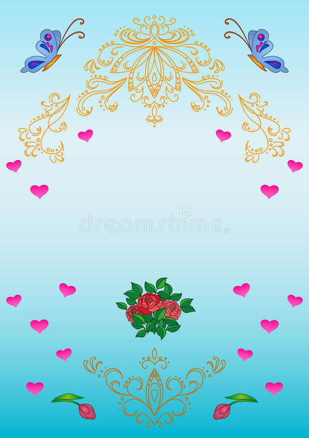 Download Card. Patterns, Flowers, Hearts, Stock Photography - Image: 14792402
