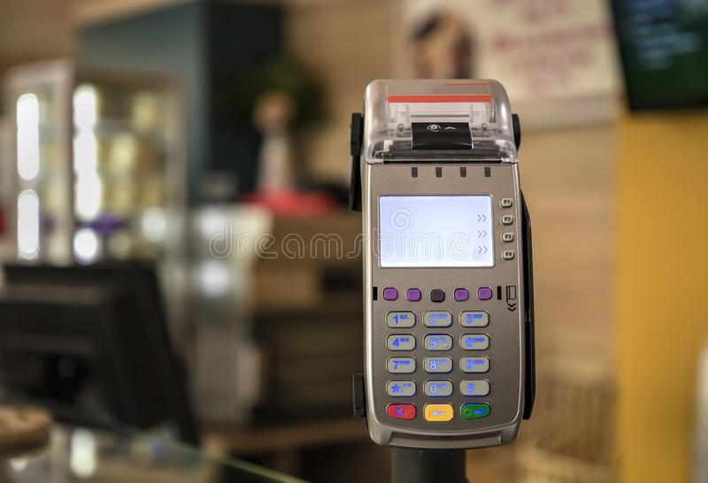 Card payment terminal POS royalty free stock photo