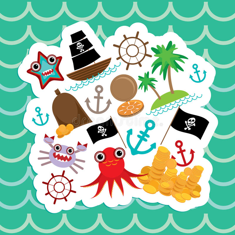 Card pirate cute party invitation animals design vector stock download card pirate cute party invitation animals design vector stock vector illustration of stopboris Gallery