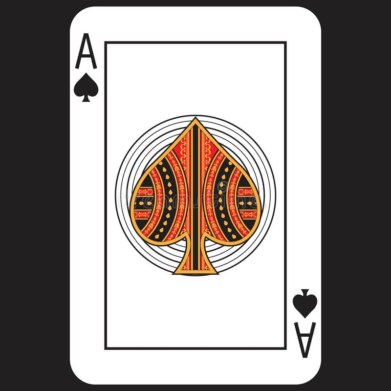 Card Poker Ace royalty free stock images