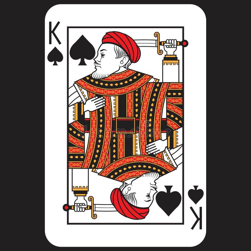 Card Poker King stock images