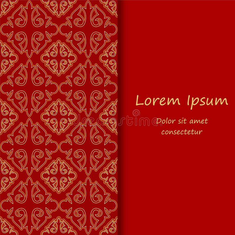 card. poster, brochure template with oriental flower. armenian o, Modern powerpoint