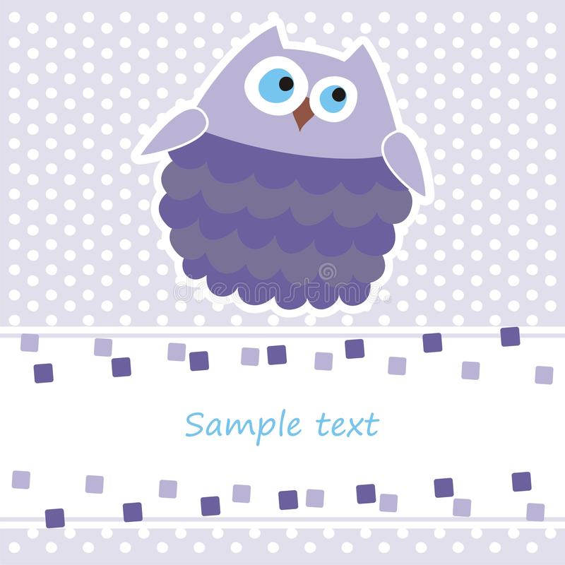 Download Card With Purple Owl Stock Images - Image: 18707374