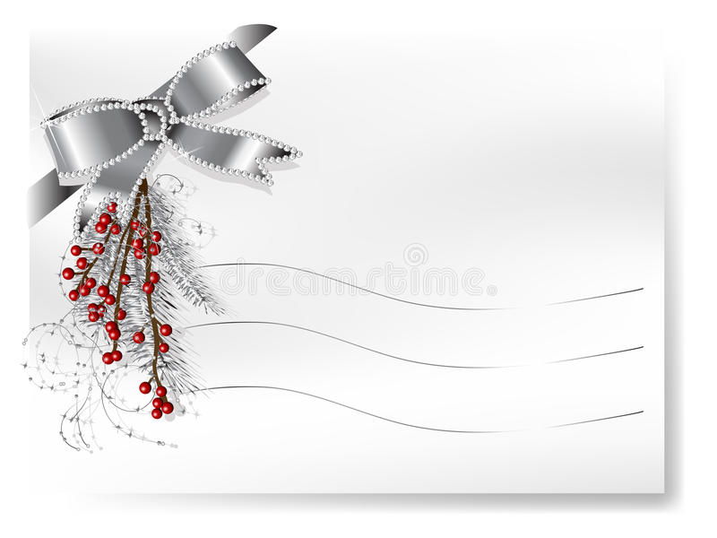 Card with ribbon vector illustration