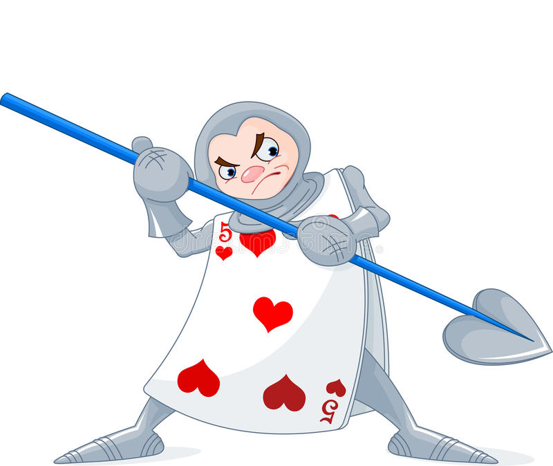 Card Soldier. From Wonderland story stock illustration