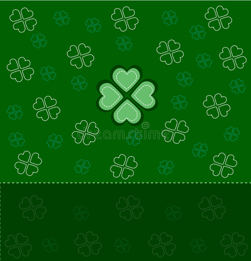 Download Card for St. Patrick's Day stock vector. Image of foliage - 13076131