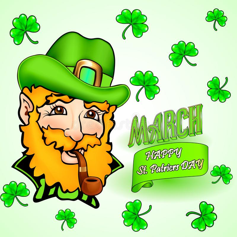 Card for St. Patrick`s Day and congratulation stock illustration