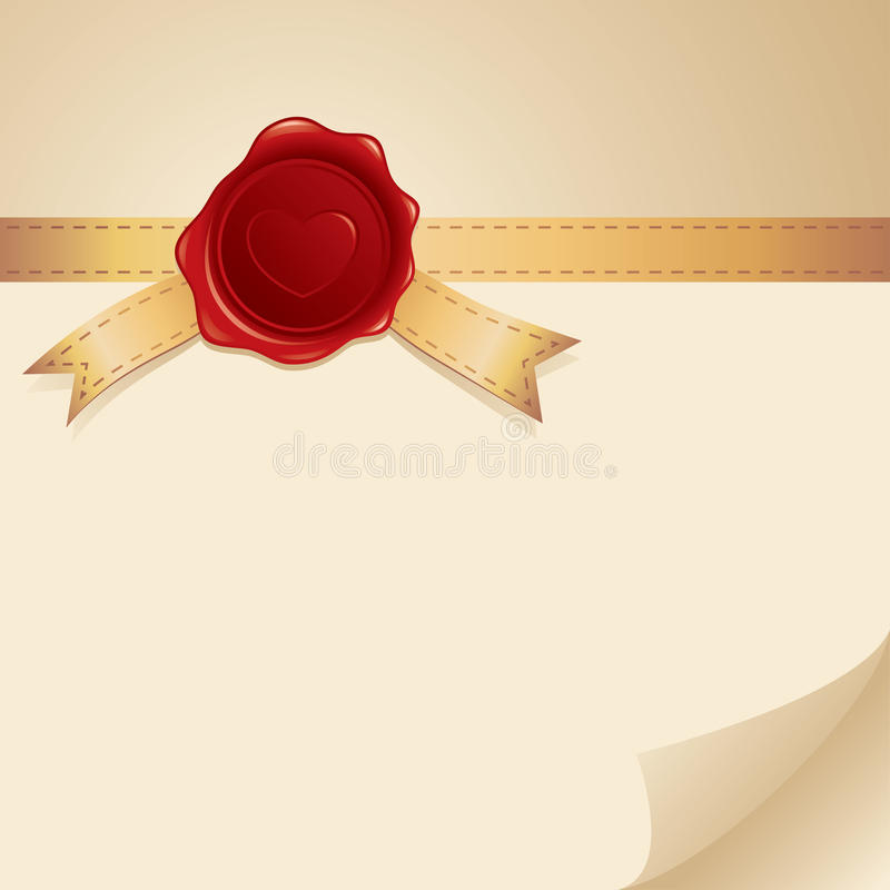 Card with stamp royalty free illustration