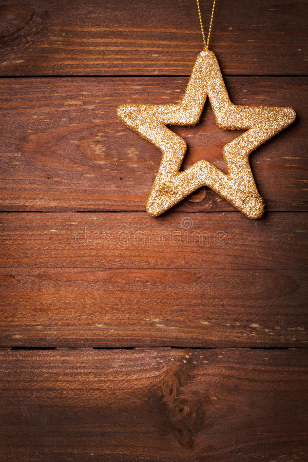Card with star shape stock image