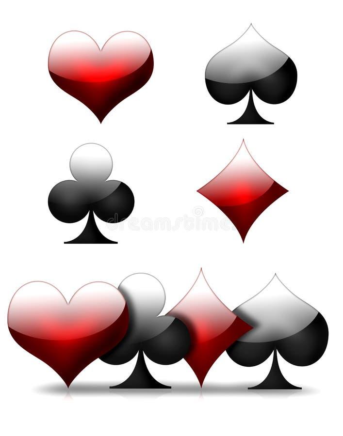 Download Card suit icons stock illustration. Image of black, illustration - 25820099