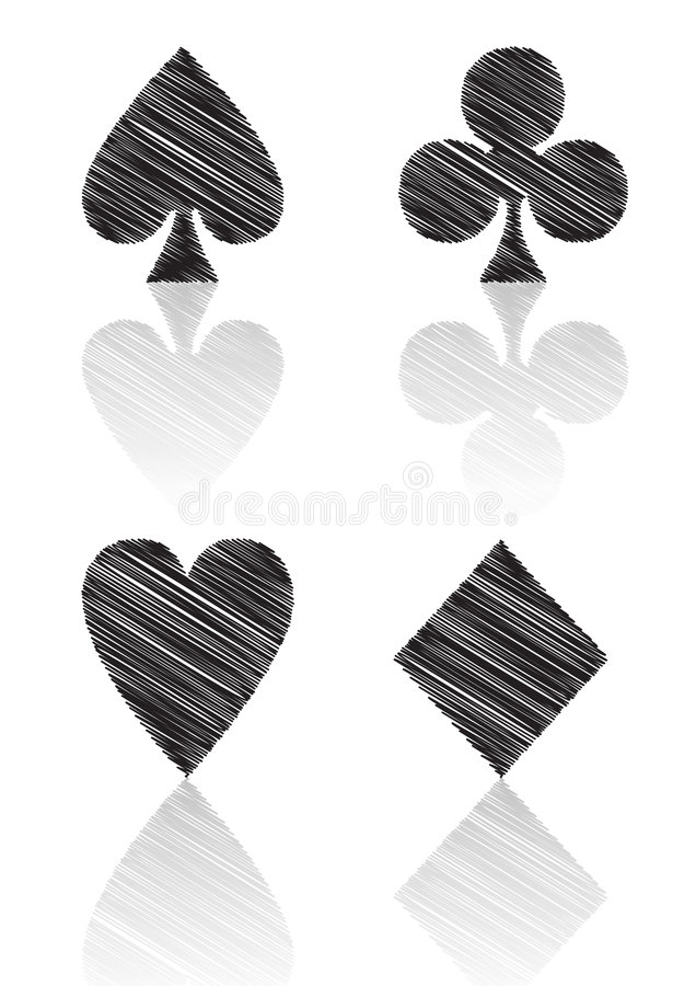 Card Symbols Royalty Free Stock Images