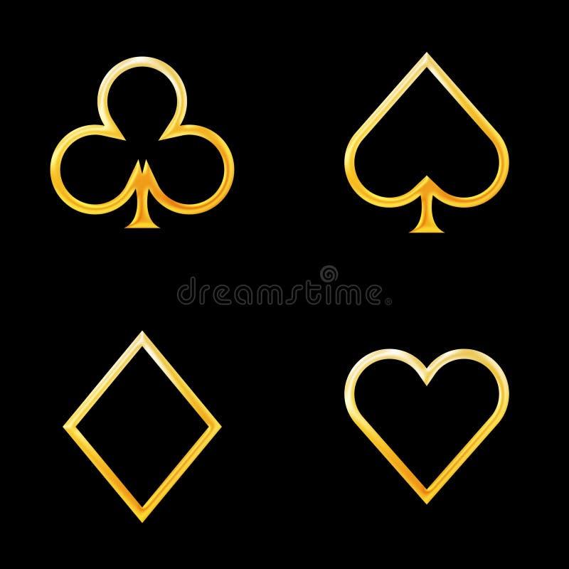 Free Card Symbols Gold Royalty Free Stock Photo - 7837895