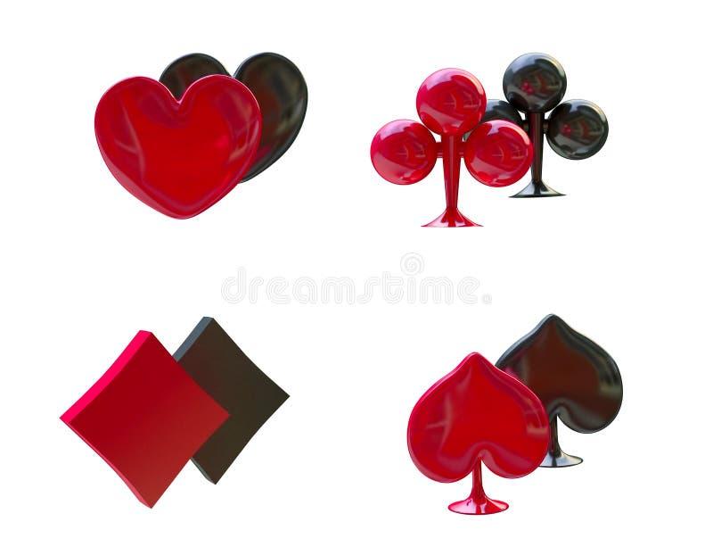 Download Card Symbols Red And Black, Four Aces Stock Illustration - Illustration of fees, blackjack: 17338991