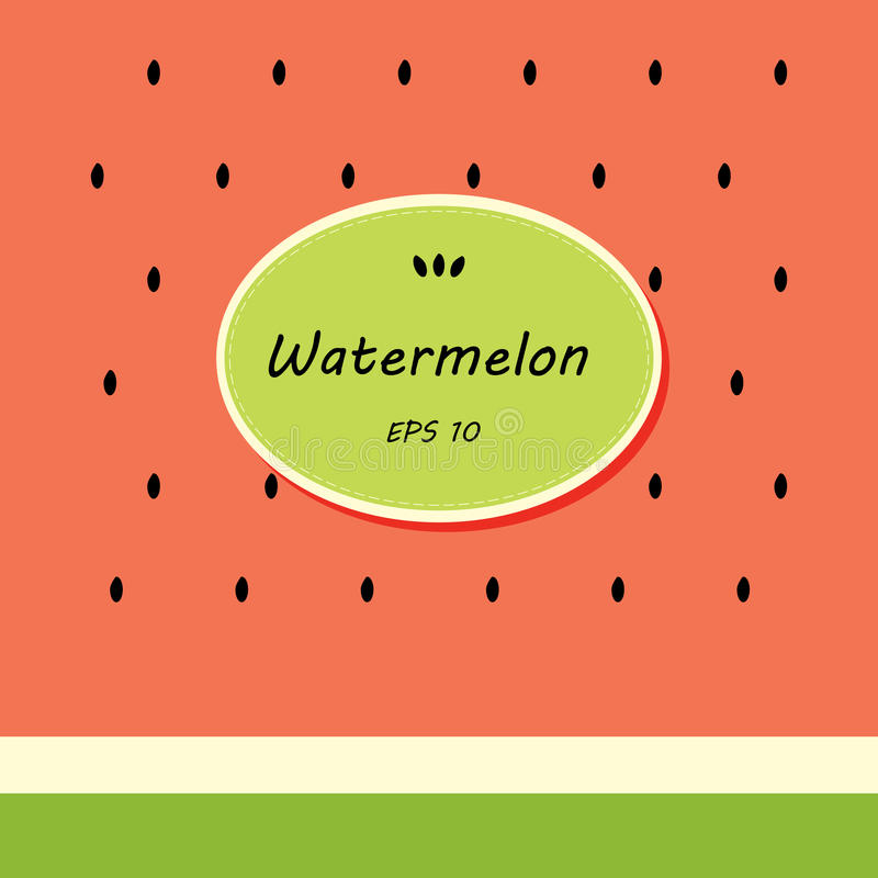Card template design with watermelon royalty free illustration