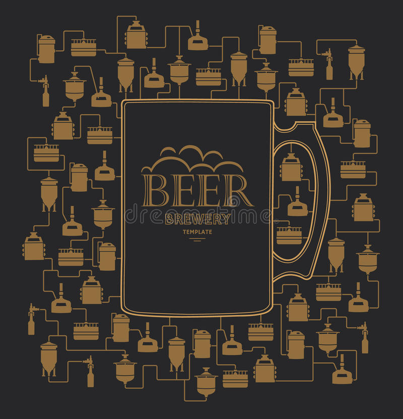 Free Card Template With Beer Brewery Element. Vector Stock Photo - 70401760
