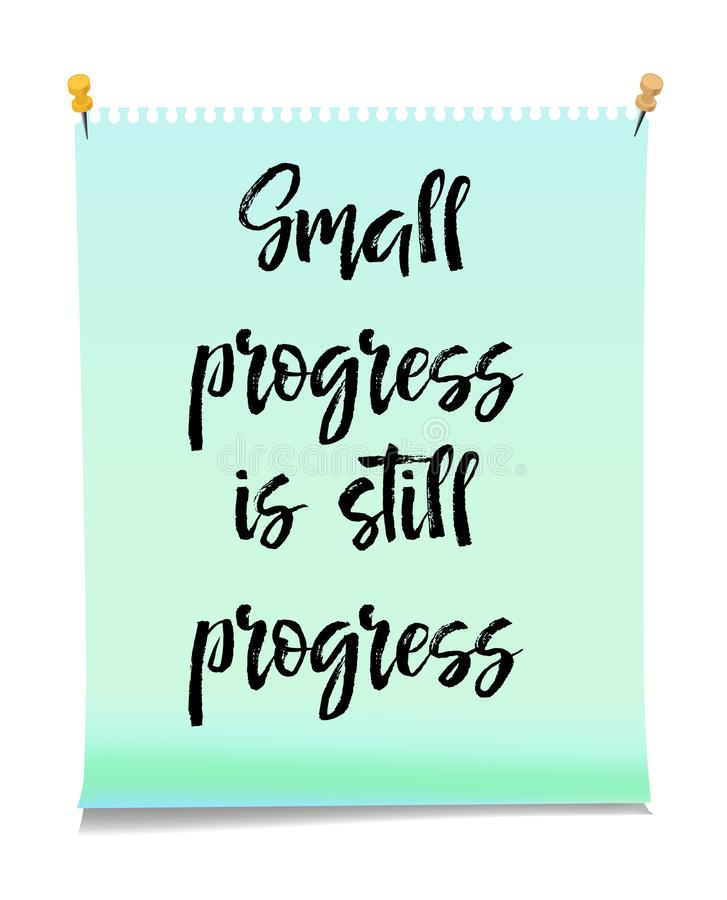 Card With Text Small Progress Is Still Progress. Inspiration Message ...