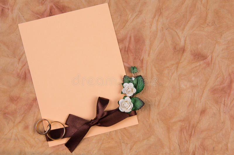 Card For Text And Weddings Rings Royalty Free Stock Photo