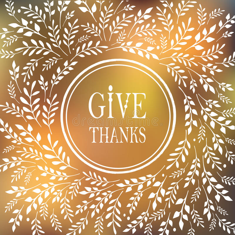 Card for Thanksgiving Day vector illustration