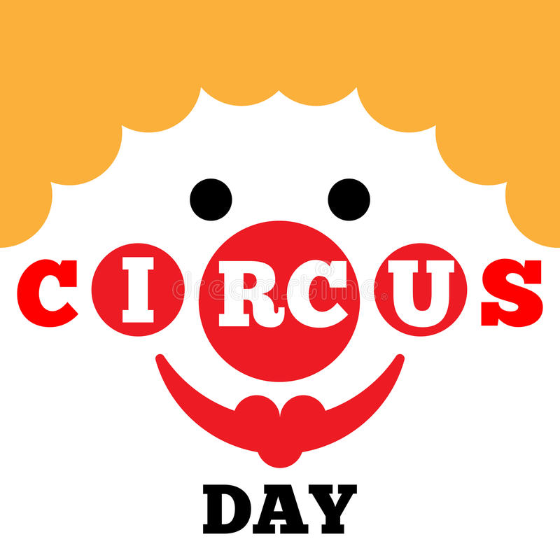 Card to Circus Day vector illustration