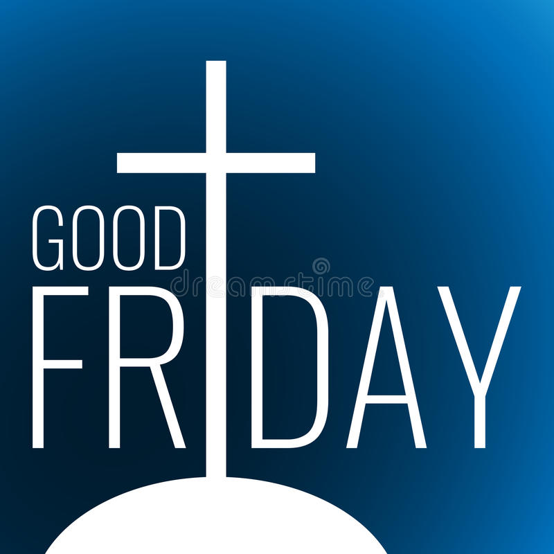 Card to Good Friday royalty free illustration