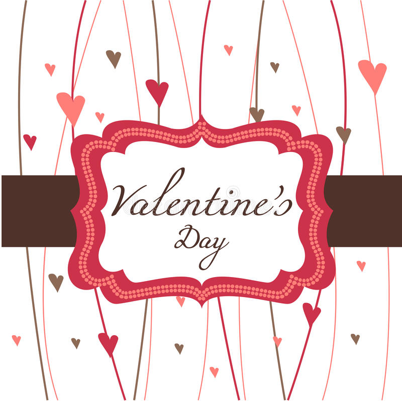 Card for Valentine's Day vector illustration