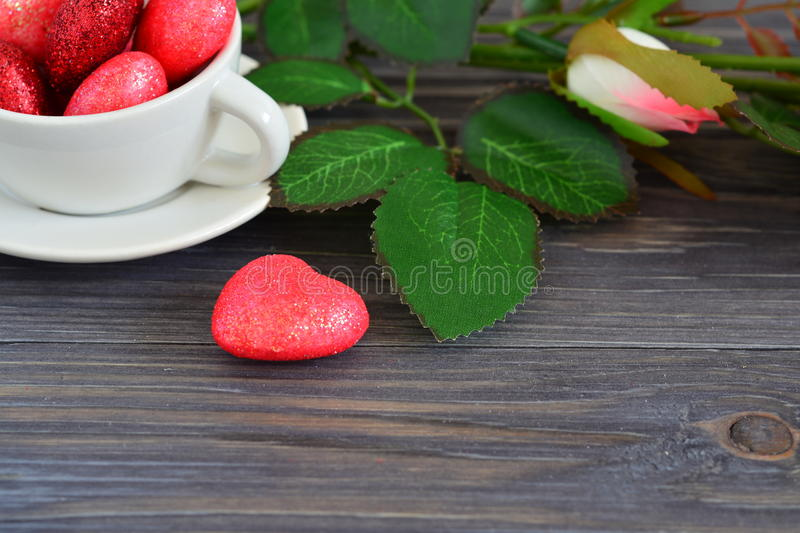 Card for Valentine's day royalty free stock photography