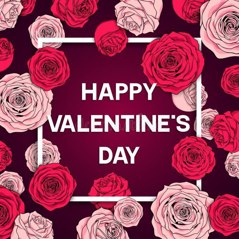 Card Valentine`s day vector illustration stock illustration