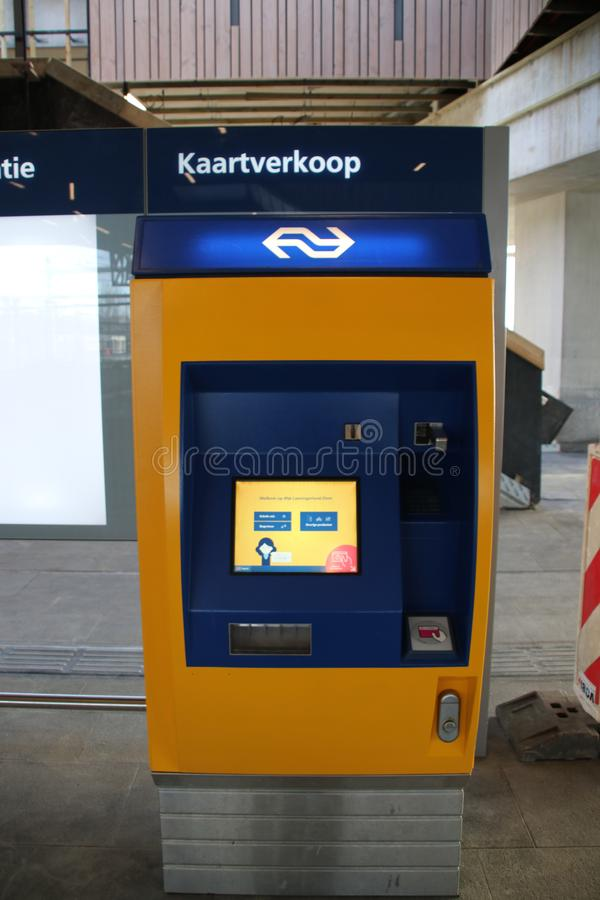 Card vending machine at new railwaystation will be used from now on named Zoetermeer Lansingerland. New railwaystation will be used from now on named Zoetermeer royalty free stock photos