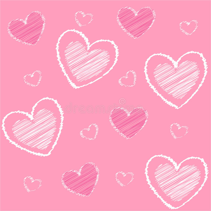 card wallpaperen för valentinen för daghjärtasymboler s stock illustrationer