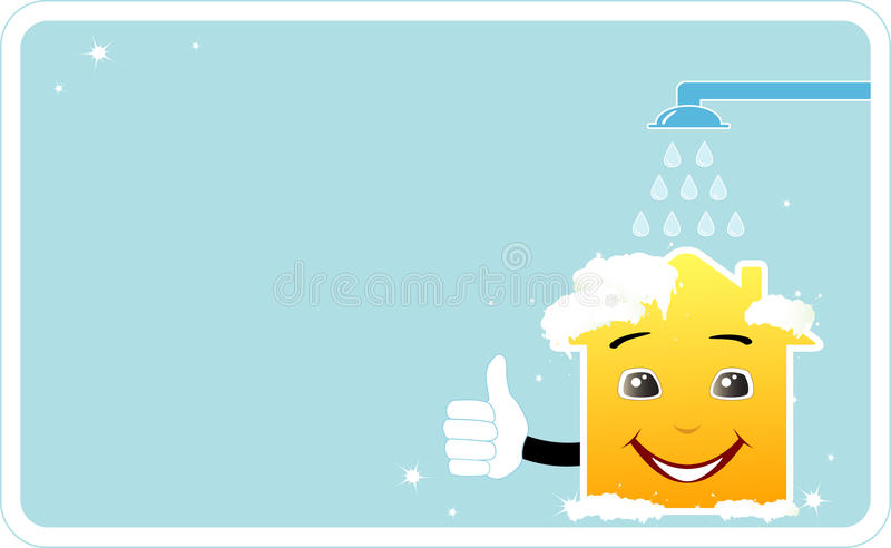 Download Card with a washing house stock vector. Image of card - 23777020