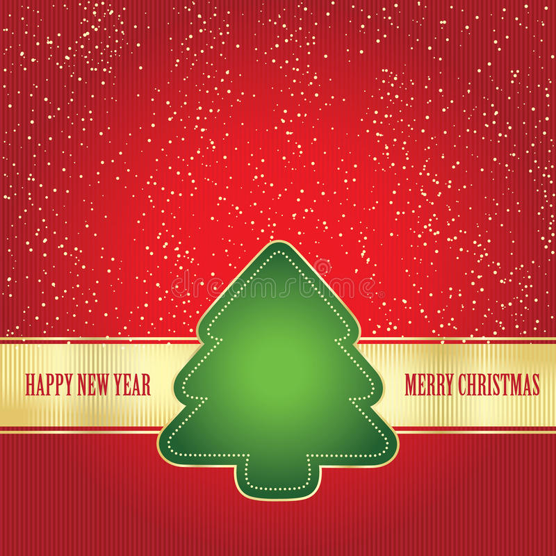 Download Card wit Christmas tree stock vector. Image of classic - 22184122