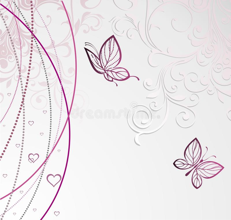 Free Card With Butterfly For Valentine S Day Stock Images - 18178314