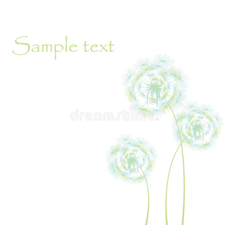 Free Card With Dandelions Stock Images - 14432244