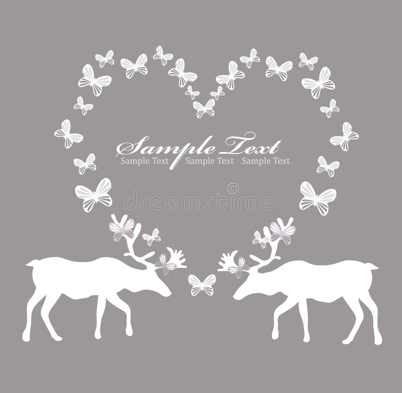 Free Card With Reindeer In Love Stock Photography - 18738462