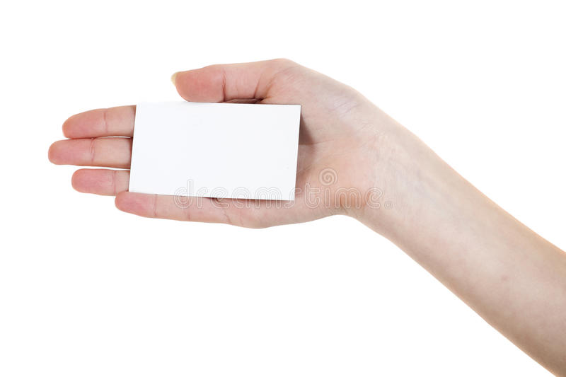 Download Card in woman hand stock image. Image of copy, expertise - 34693275