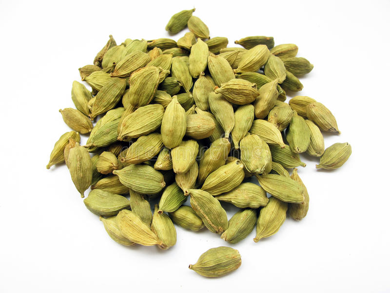 Cardamom. Is used as a herb,spice and flavoring agent. its maximum cultivation is seen in india stock image