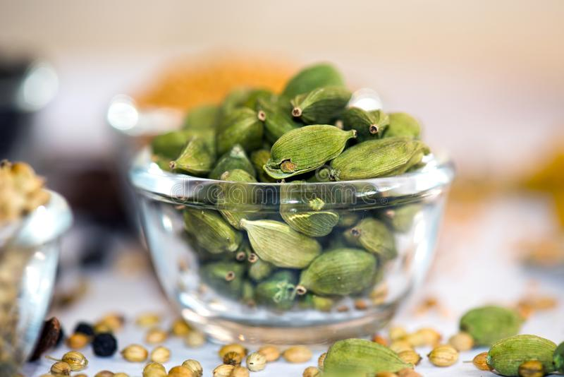 Cardamom. In Bowl royalty free stock photography