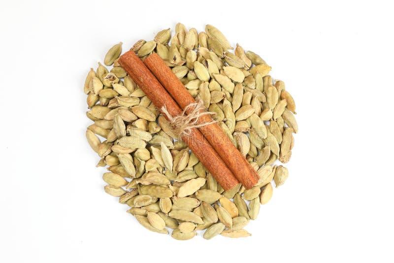 Cardamom Cinnamon Spice stock image