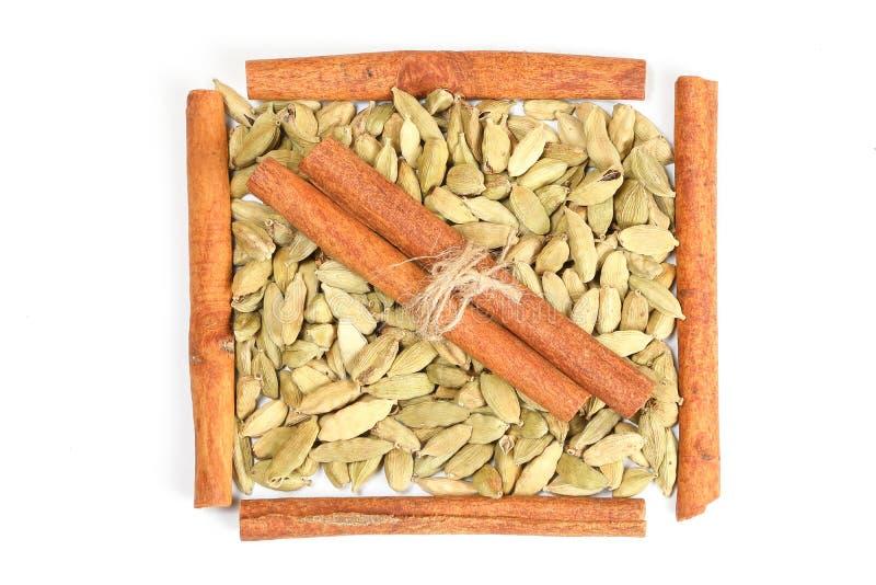 Cardamom Cinnamon Spice stock photography